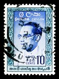 Д-р Solomon западное Ridgeway Dias Bandaranaike (1899-1959), основной m Стоковые Изображения