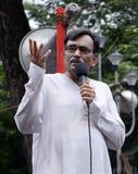 Д-р Surya Kanta Mishra на ралли фондом крошкы стоковая фотография