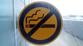 Для некурящих знак на окне Стоковое Изображение RF