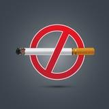 Для некурящих знак на темной предпосылке иллюстрация штока