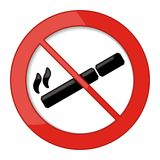 Для некурящих иллюстрация вектора знака Стоковое Фото