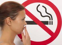Для некурящих концепция Стоковые Изображения