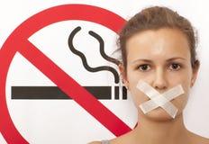 Для некурящих концепция Стоковая Фотография