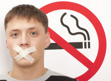 Для некурящих концепция Стоковые Изображения RF