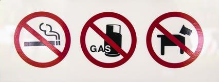 Для некурящих, отсутствие газа, отсутствие животного Стоковая Фотография