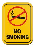 Для некурящих - предупредительный знак Стоковые Изображения RF