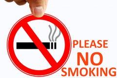 Для некурящих родственный знак концепции Стоковые Изображения