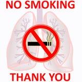 Для некурящих родственный знак концепции Стоковая Фотография