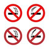 Для некурящих установленные значки знака Стоковые Изображения