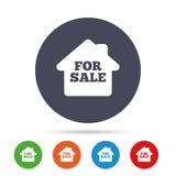 Для продажи значок знака Продавать недвижимости иллюстрация штока