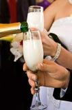 Шампань в стеклах Стоковая Фотография