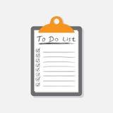 Для того чтобы сделать значок списка при нарисованная рука отправьте СМС Контрольный списоок, vecto списка задач Стоковое фото RF