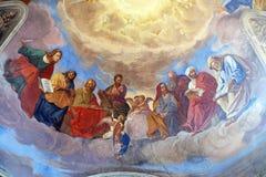 Евангелисты и деталь пророков стоковые изображения