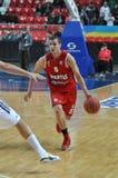 Евгений Voytyuk бежит с шариком Стоковые Изображения RF
