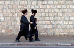 Евреи в Иерусалиме Стоковые Фотографии RF