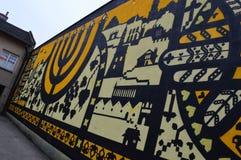 Еврейская настенная роспись в Kazimierz в Кракове Стоковые Фотографии RF