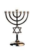 Еврейская предпосылка Хануки праздника с menorah Стоковые Фотографии RF