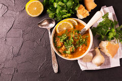 Еврейская свадьба и holyday Yemenite суп Marak Temani говядины Стоковое Изображение