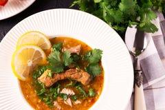 Еврейская свадьба и holyday Yemenite суп Marak Temani говядины Стоковая Фотография