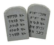 Еврейские 10 заповедей Стоковые Изображения RF