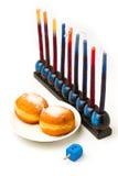 Еврейские символы Hanukkah праздника Стоковое Изображение