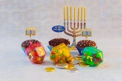 Еврейские украшенные пирожные Хануки праздника Стоковые Изображения RF