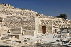 Еврейский взгляд кладбища. стоковое изображение rf