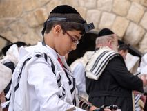 Еврейский предназначенный для подростков молить Стоковые Фотографии RF