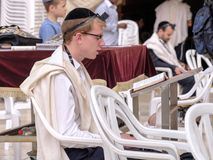 Еврейский человек моля Стоковое Фото