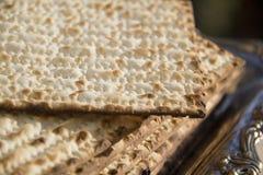 Еврейский matzot-крупный план Стоковые Фото