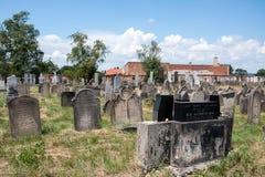 Еврейское кладбище в Holesov Стоковые Изображения