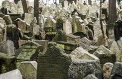 Еврейское кладбище в Праге Стоковые Фото