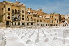 Еврейское кладбище в Fez, Марокко Стоковые Фото