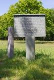 Еврейское кладбище в Muiderberg Стоковая Фотография RF