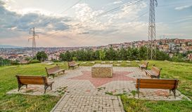 Еврейское кладбище в Pristina Стоковое Фото