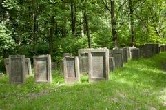 Еврейское кладбище - Lezajsk - Польша стоковое фото rf