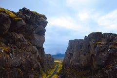 Евроазиатские и североамериканские тектонические плиты Стоковые Изображения