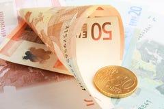 евроец валюты Стоковое Фото