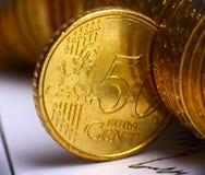 евроец валюты Стоковые Фотографии RF