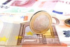 20 50 100 евроец евро 500 валют Стоковые Изображения