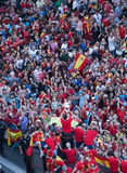 евроец Испания чемпиона стоковое фото