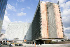 евроец комиссии здания brussels Стоковое фото RF