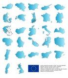 евроец страны Стоковые Изображения