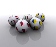 евроец шариков flags футбол Стоковые Фотографии RF