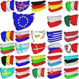 евроец flags соединение Стоковая Фотография