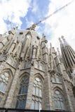 Европа, висок под конструкцией Sagrada Familia, Barcel стоковые изображения
