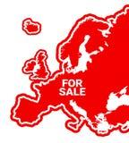 Европа для продажи иллюстрация вектора
