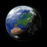 Европа на земле планеты иллюстрация штока