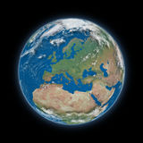 Европа на земле планеты иллюстрация вектора