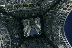 Европа Париж сентябрь 2017 башня ночи eiffel Стоковое Изображение